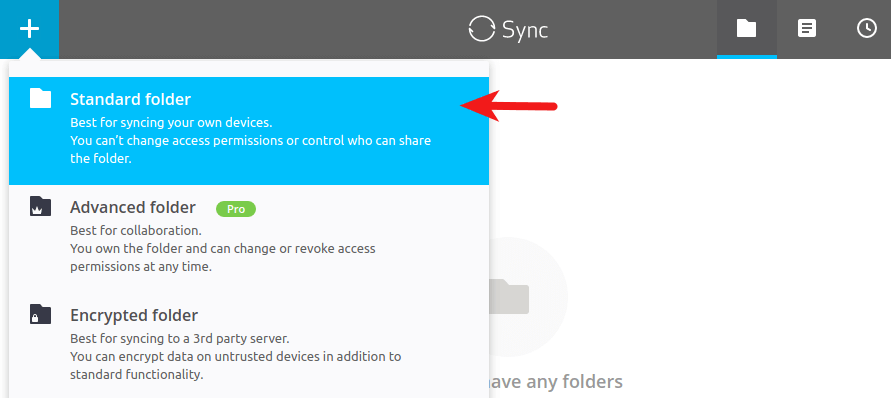 resilio sync standard folder ubuntu