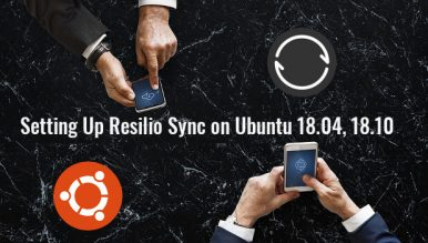 setting up resilio sync ubuntu 18.04