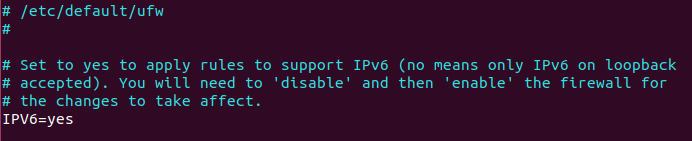 ufw ipv6 address