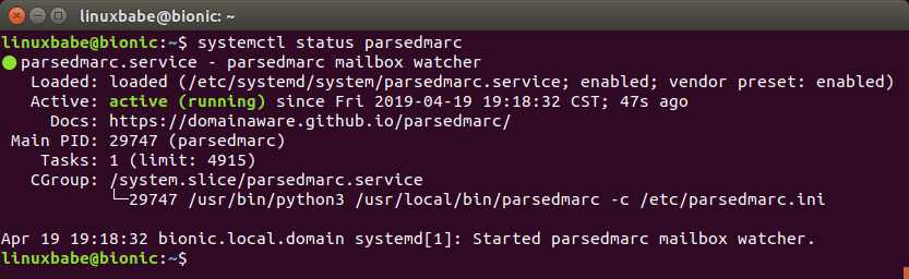 parsedmarc systemd service