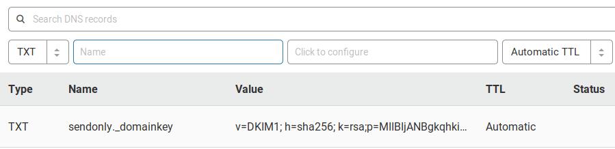 postfix send only DKIM