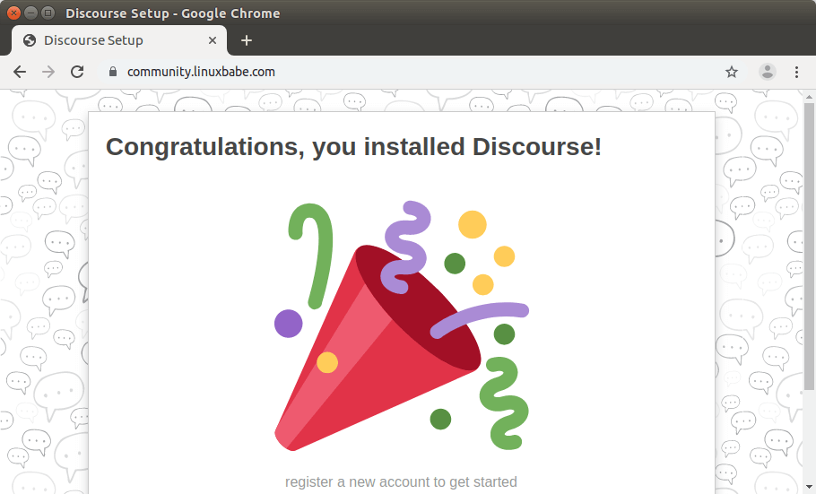 install discourse forum on ubuntu 18.04