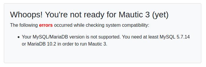 upgrade to Mautic 3