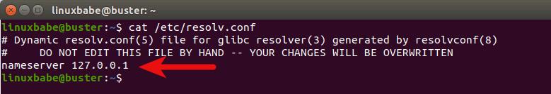 change name server on debian 10 buster