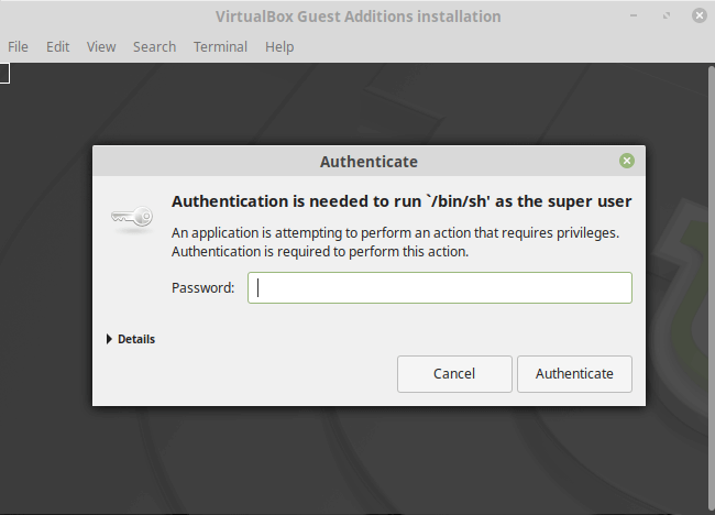 install virtualbox guest additions in linux mint