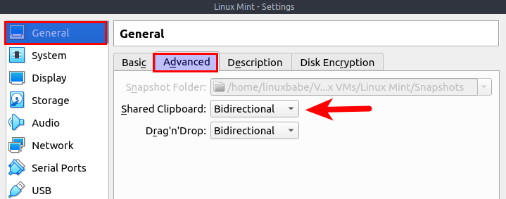 linux mint virtualbox bidirectional clipboard