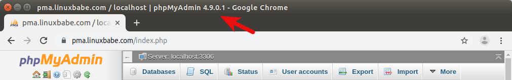 phpmyadmin latest version ubuntu 18.04 apache