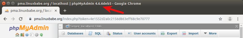 ubuntu 18.04 apache phpmyadmin 4.9