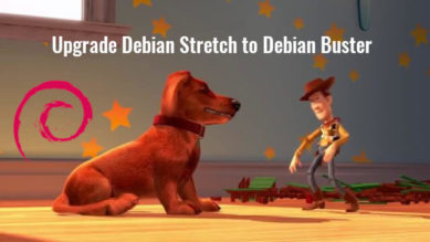 upgrade debian stretch to debian buster gui & terminal