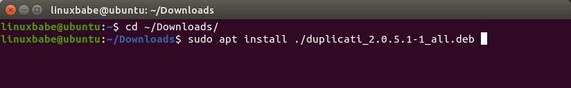 duplicati-server-ubuntu