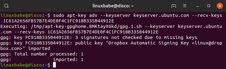 install dropbox ubuntu 19.04