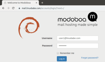 quickly set up mail server debian 9 modoboa