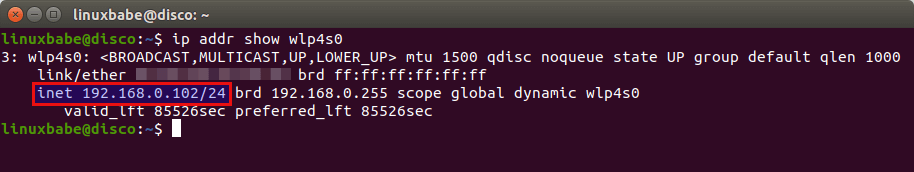 ubuntu dhclient obtain private ip address