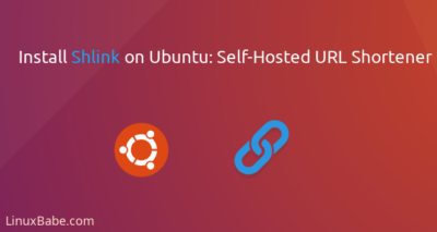 install shlink on ubuntu_ self hosted url shortener