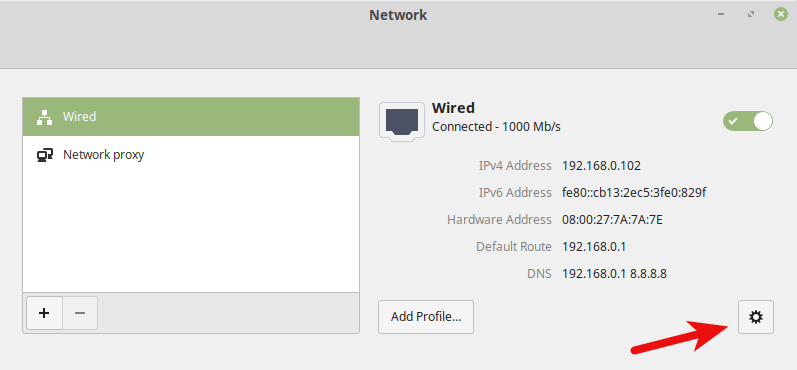 linux mint configure dns server