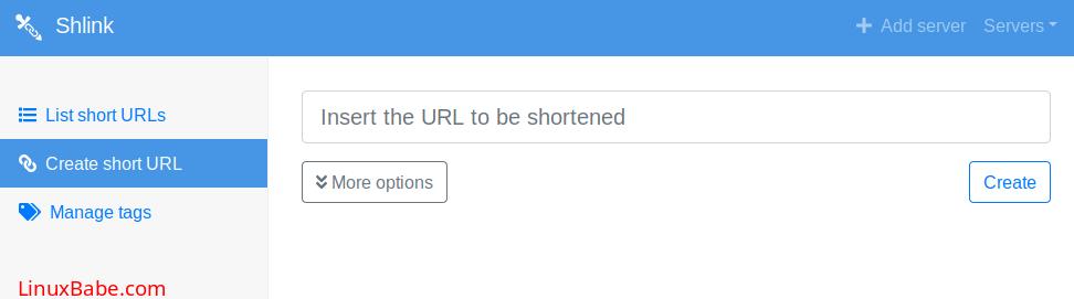 shlink create short url