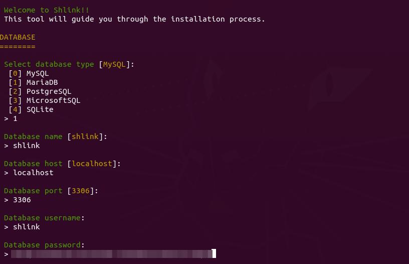 shlink-install-script-wizard-command-line