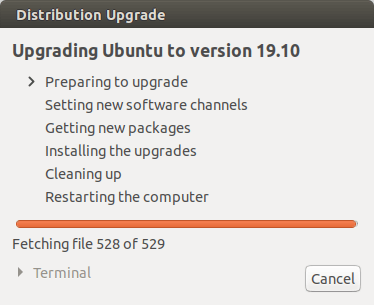 distribution upgrade ubuntu 19.10