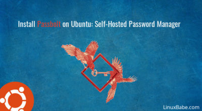 install passbolt ubuntu self-hosted password manager