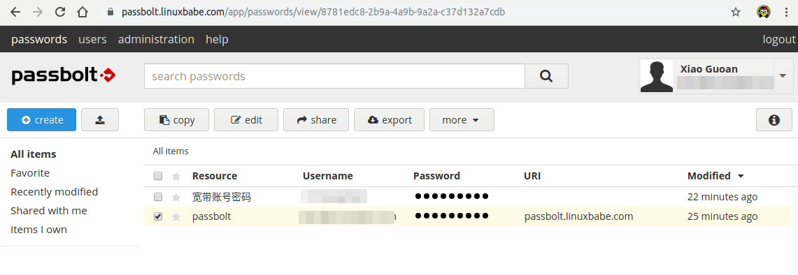 passbolt import passwords