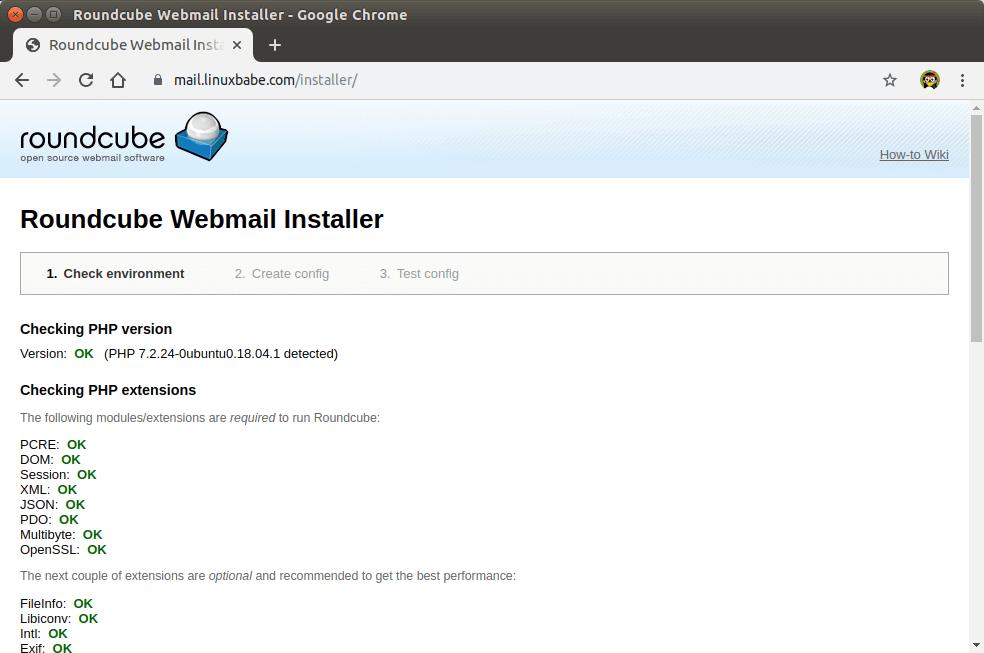 roundcube ubuntu 18.04