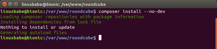 roundcube webmail install dependency