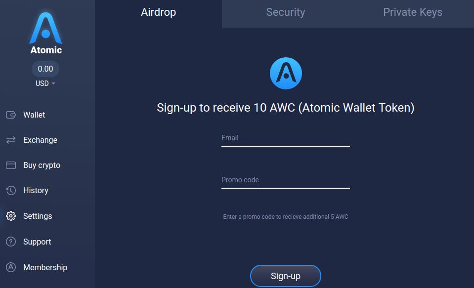 atomic wallet airdrop