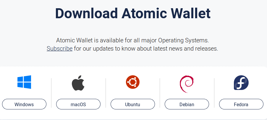 install atomic wallet on Linux