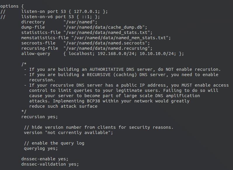 centos 8 bind enable recursion service