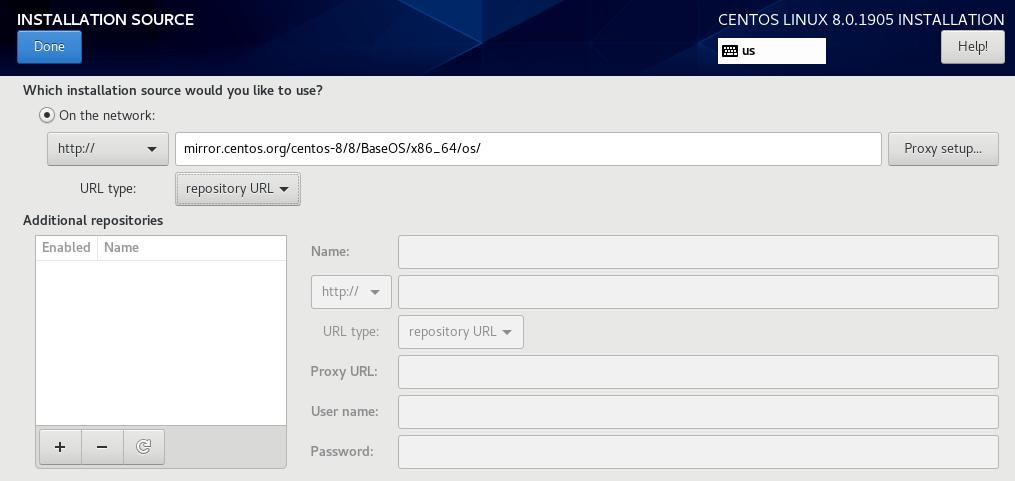 centos 8 error setting up base repository