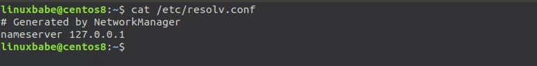 change name server on centos 8