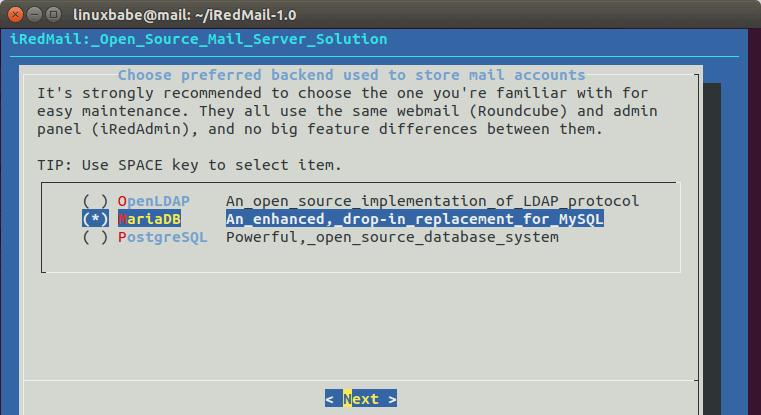 debian 10 email server