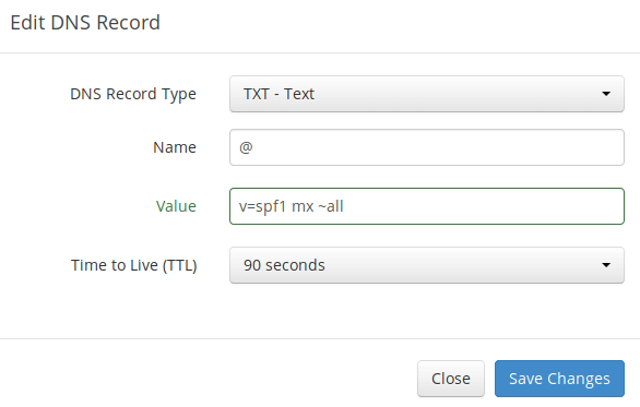 iredmail SPF record