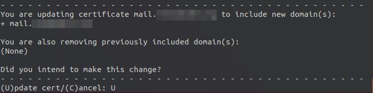 certbot letsencrypt multi-domain postfixadmin