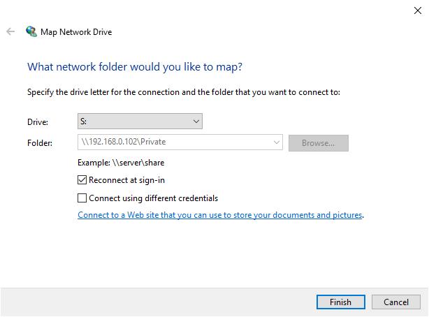 map network drive samba