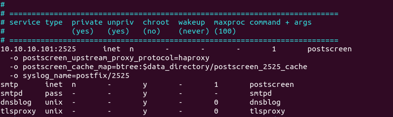 postfix haproxy smtp proxy