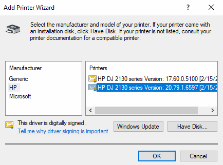 windows add printer wizard