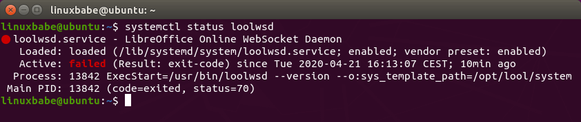 LibreOffice Online WebSocket Daemon