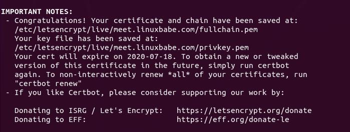 jitsi meet https letsencrypt