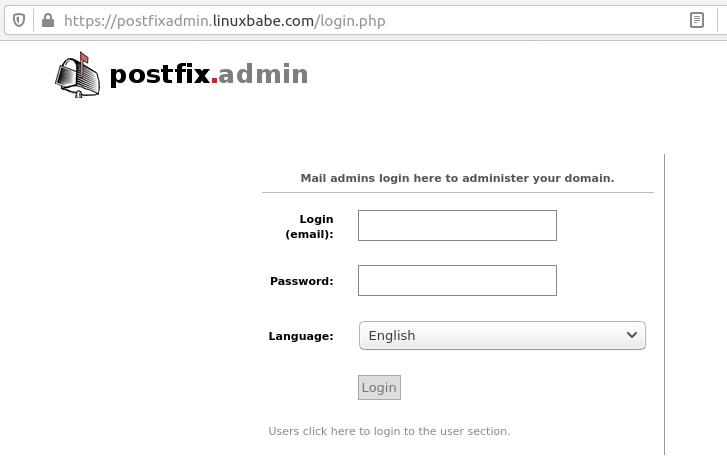 postfixadmin virtual mailbox domains ubuntu 20.04