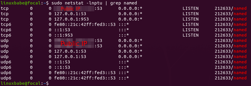 ubuntu 20.04 bind9 setup