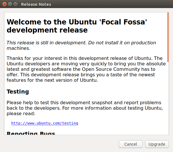ubuntu 20.04 focal fossa release notes