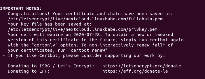 ubuntu 20.04 nextcloud certbot letsencrypt https