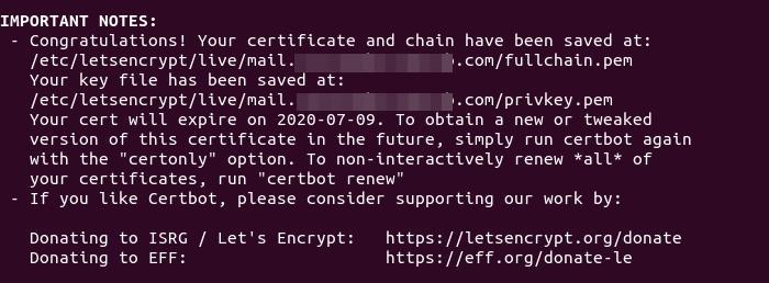 ubuntu 20.04 rainloop https letsencrypt certbot