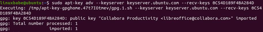 ubuntu Collabora public key