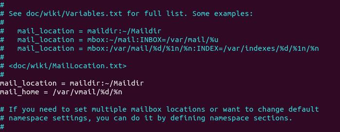virtual mailbox home directory