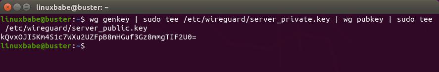 Debian-wireguard-VPN-server-generate-public-private-key
