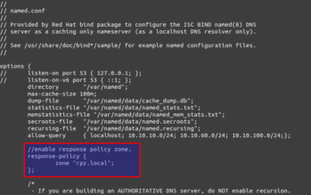 response-policy-zone-bind-centos