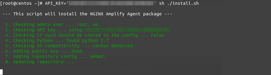 nginx amplify centos 8 rhel 8