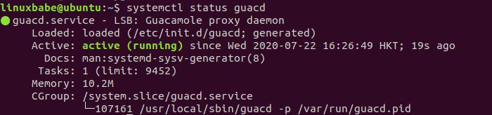 Guacamole proxy daemon